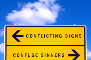 Conflicting Signs Confuse Sinners