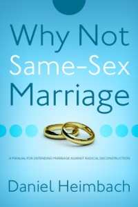Why Not Same Sex Marriage Cover